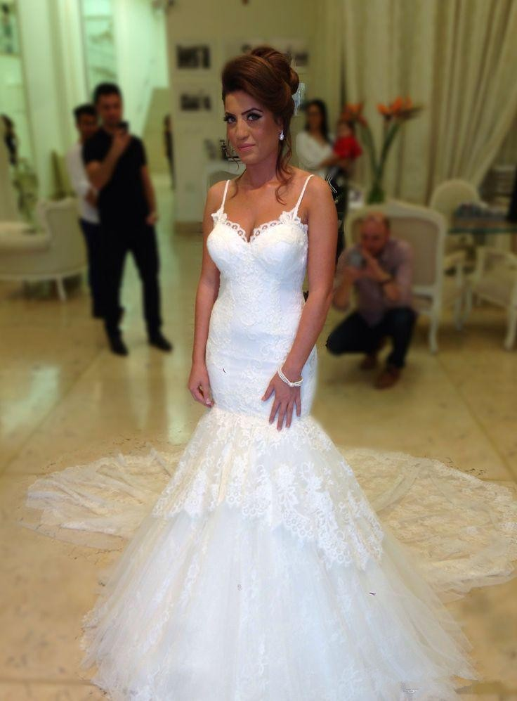 2015 backless lace mermaid cheap elegant bridal wedding dresses white