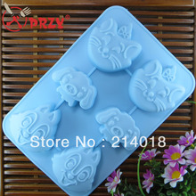 Animal face silicone cake mold Ice cream Chocolate molds soap 3D cupcake bakeware baking dish pan - PRZY Int'L Technology Beijing Co.,LTD. store