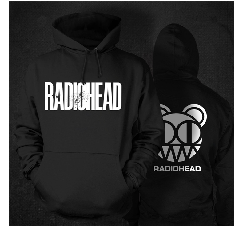 Radiohead Logo Printed Men Winter Sweatshirts Mens Sweat Man Clothes Music Style Rock Radio Head(China (Mainland))