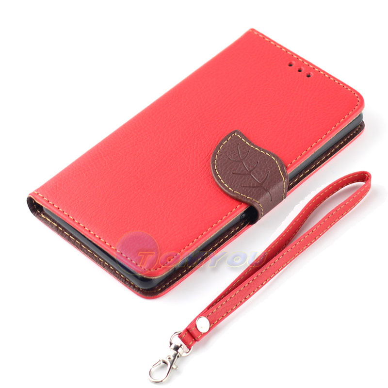 PU Leather Pouch Fashion Leaf Card Wallet Case Cover LG Nexus 5 E980 D820 D821 Google - Terry store