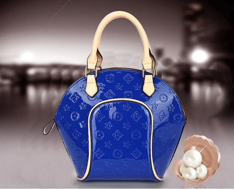 Fashion Autumn 2015 NEW Shell Women Handbag PU Leather Floral Casual