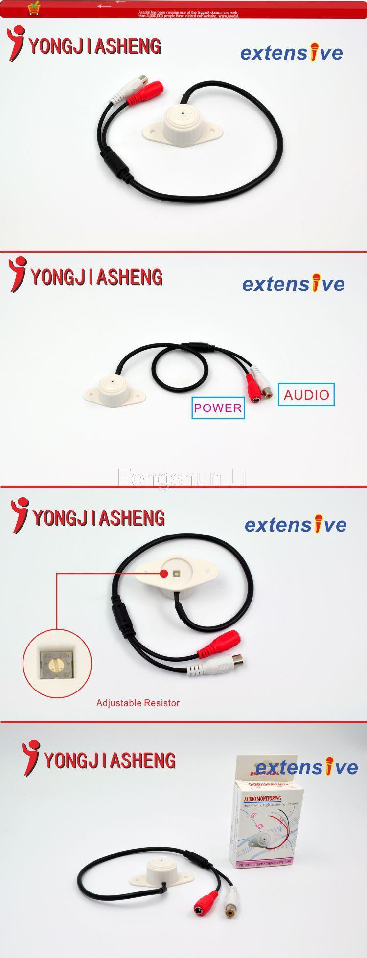 5Pcs CCTV camera MIc adjustable sound monitor microphone audio monitor free shipping