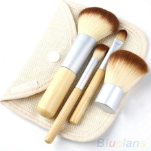 2014 5pcs set Hot Selling New BAMBOO Makeup Brush Set Make Up Brushes Tools 000F 019F