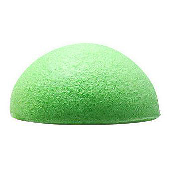 New Hot Sale Natural Konjac Konnyaku Facial Puff Face Wash Cleansing Sponge Green White Make Up Tools Skin Care Free Shipping(China (Mainland))
