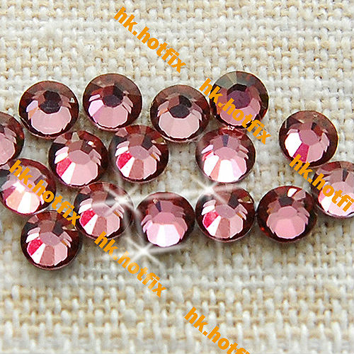 ss7 GENUINE Swarovski Elements Antique Pink ( 001 ANTP ) 288 pcs ( NO hotfix Rhinestone ) Clear Crystal 7ss 2058 FLATBACK Glass(Hong Kong)