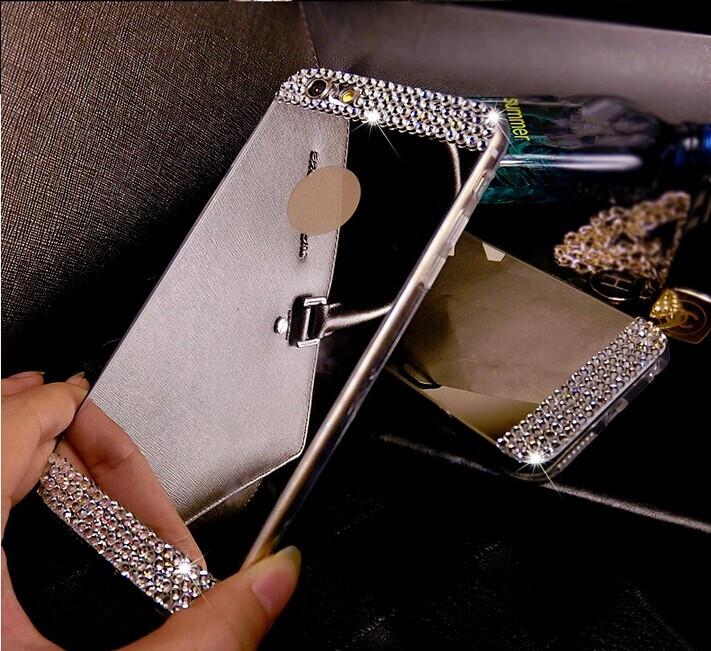 I4029 Diamond Crystal rhinestone Mirror TPU Soft Gel Case Cover Skin For Apple iPhone 4 4s(China (Mainland))