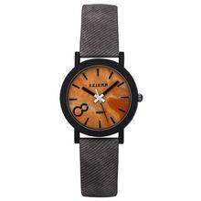 Men Women Fashion Simulation Wood Watch Vintage Casual Leather Strap Wood Quartz Wrist Watch Horloge Relogio Masculino