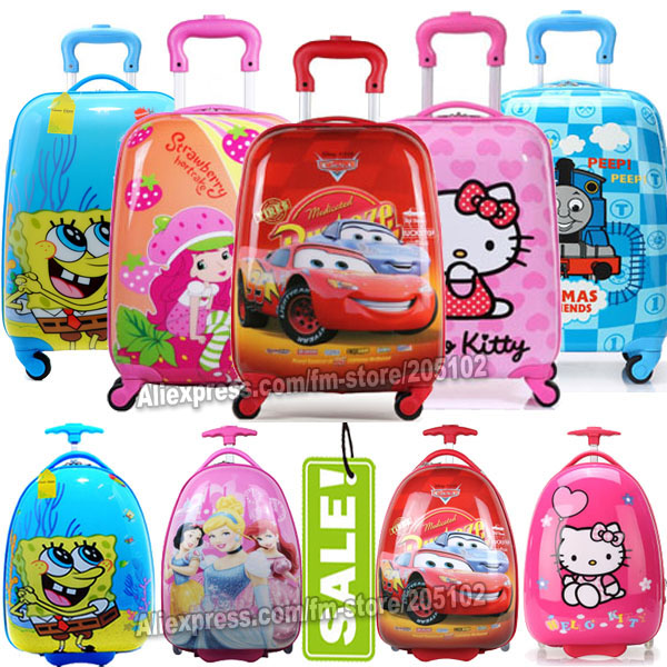 """16"""" 18"""" inch Children Luggage Suitcase,Child Kid Boy Girl Princess Cat ABS Cartoon trolley case box Traveller Pull Rod Trunk(China (Mainland))"""