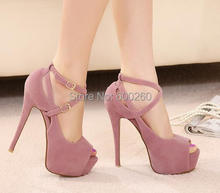 Free Shipping 2015 new spring high-heeled shoes wedding shoes platform fashion women's shoes pumps red bottom high heels# 5698(China (Mainland))