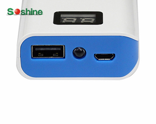 Soshine E2 Power Bank 4000mAh LCD Portable Battery Charger USB External Battery Charger For Mobile Phone Power Battery Source*