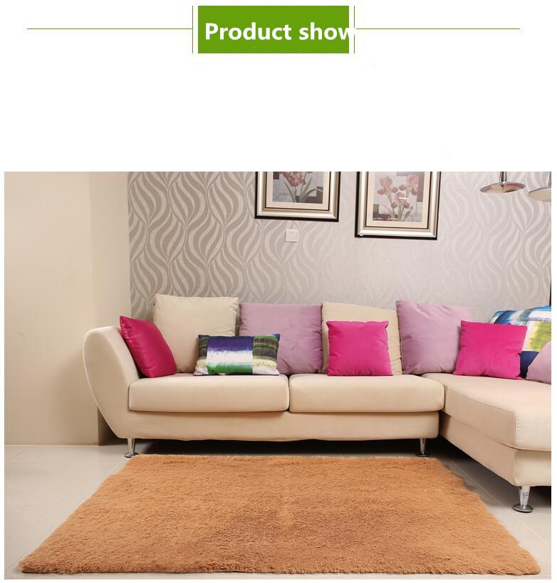 200 300cm large solid shaggy carpet soft plush rugs and carpets area rug for living room home. Black Bedroom Furniture Sets. Home Design Ideas