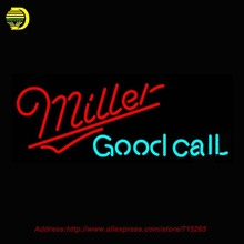Miller Good Call Beer Light NEON SIGN Neon Bulb Handcrafted Recreation Room Neon Glass Tube Affiche Neon Window Lights 32x13(China (Mainland))