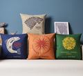 Fire and Ice Series badge Cushion Pillow Cover 45cmx 45cm Cotton linen Pillows Decorate for