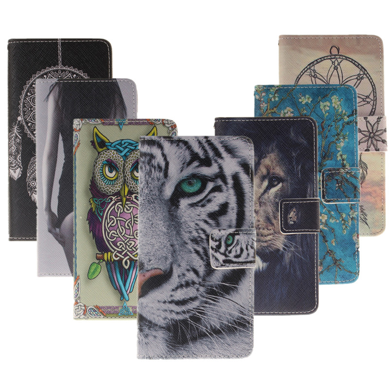 Coloured Drawing Tiger PU Leather Case For BQ M5 3G 4G For BQ M5 BQ Aquaris M5 Mobile Phone Cover Casing Wallet Protect Shell(China (Mainland))