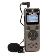 Yulass 8GB Professional Audio Recorder Business Portable Digital Voice Recorder Support Telephone Recording,Tf Card to 64GB(China (Mainland))