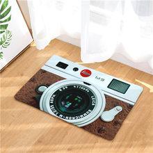 Cámara esteras antideslizantes alfombra 3D cinta patrón impresión felpudo para baño cocina entrada alfombras casa Decoration40x60 50x80 cm(China)