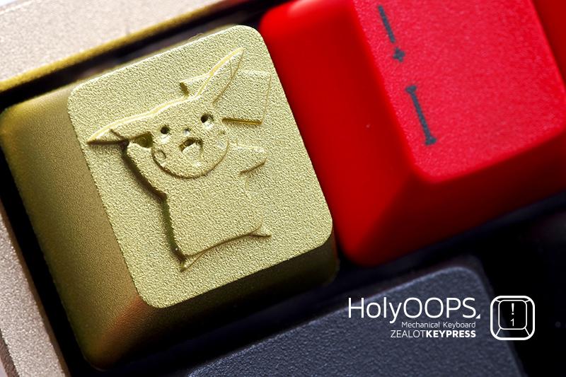 HolyOOPS Pokemon Pikachu Poke Ball Picachoo Full Metal Mechanical Keyboard Keycap(China (Mainland))