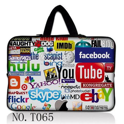 """Fashion 10''/12""""/13""""/14"""" /15"""" &17"""" Inch Mini Laptop Case Computer PC Netbook Bag Pouch Sleeve Cover Handle(China (Mainland))"""