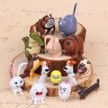 14Pcs/bag New 2016 The Secret Life of Pets LPS Little Pet Shop Toys Animal Cute Cat Dog Action Figures Collection Kids Toys Gift(China (Mainland))