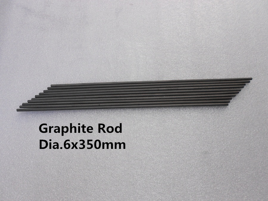 Dia.6*350mm graphite bar carbon rod 30pcs FREE SHIPPING / Spectrum pure graphite stick(China (Mainland))