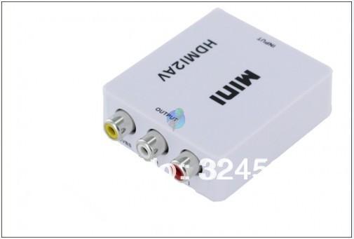 HD Full 1080p to CVBS Signal for VHS VCR DVD record New Mini Video Box L/R Adapter Hdmi av converter rca fpv set tv mini hdmi2av