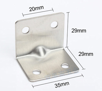 Free shipping Stainless Steel Corner Brackets Furniture Connector Metal Accessories Angle Bracket