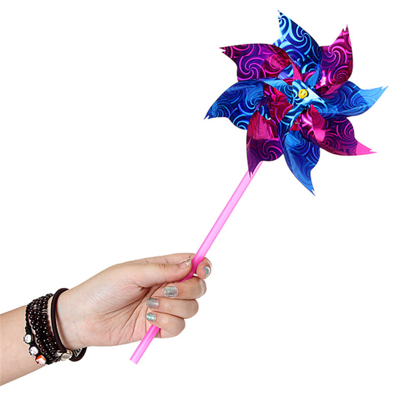 5 Colorful Plastic Windmill Toy Spinners Pinwheels Spinner Whirl DIY Outdoor Beautiful Changing Flower Children Kids Windmills