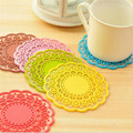 1pcs Colorful Round Non Slip Heat Resistant Mat Coaster Cushion Placemat Pot Holder Table Silicone Mat