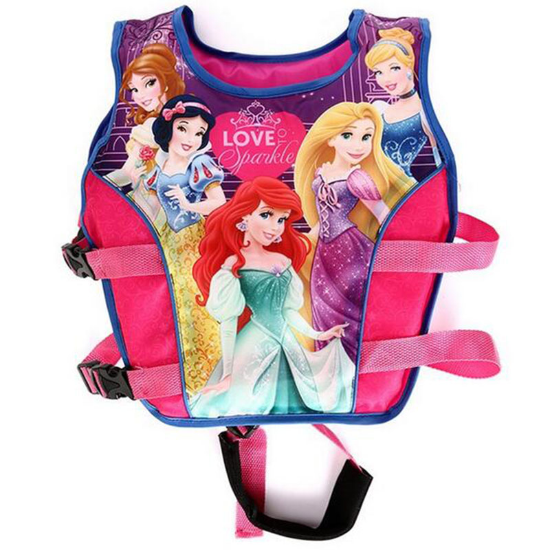 2016 Cartoon Snow White Mermaid Princess Spider-man Car KT Cat Swimwear Life Jacket Diving Suit Surf For Baby Girl Boys Kids(China (Mainland))