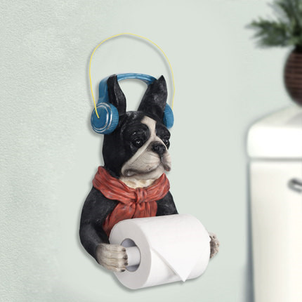 Creative Cute Dog Roll Toilet Paper Rack Toilet Tissue