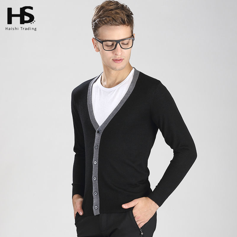 2016 Spring New Cardigan Men Sweater Men Brand Clothing Mens Sweaters Solid Color V-Neck Knitted Wool Cardigans Casual Coat 6901(China (Mainland))