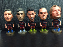 Soccerwe Spain European Champions League Soccer Star Lovely Figure Model Toy Fans Collection DIY Gift Messi Neymar Suarez(China (Mainland))