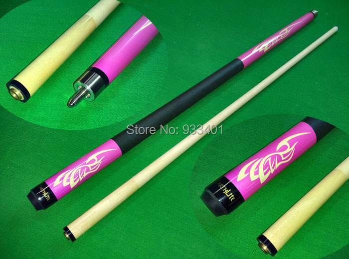 Free Shipping Special Price 58 inch Canada Maple Wood 1/2 Jointed Pool Cue Stick Billiard Cue with 12.8mm Cue Tips(China (Mainland))