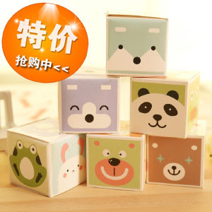 A07-1-02 Korea stationery cute animal magic way boxed paragraph Scratch Pad / Notepad SQ