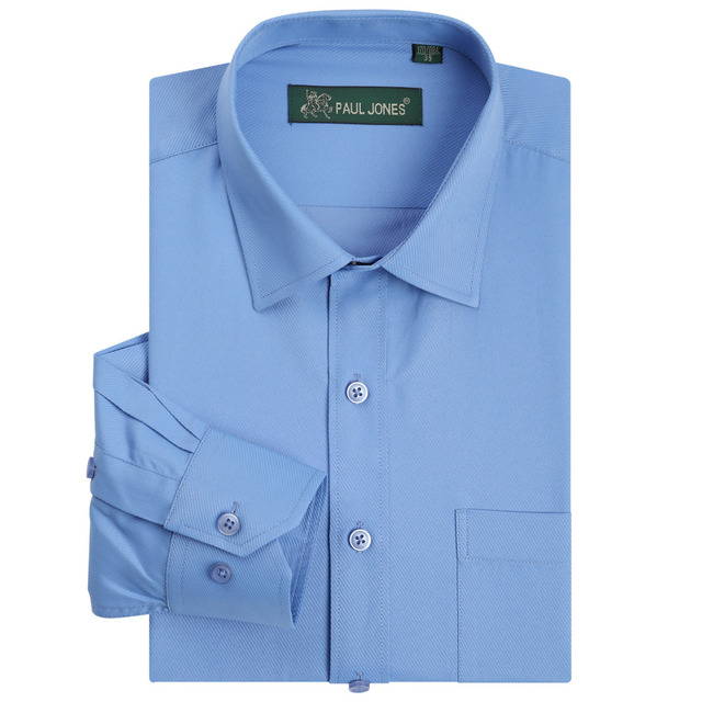 Длинным рукавом саржевые мужская рубашка Wrinkle свободного покроя бизнес формальные ...