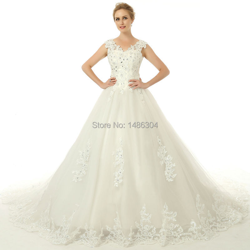 Buy 2015 designers lvory lace beadings for Wedding dress appliques suppliers