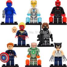 Marvel Super Heroes Captain America 3 Civil War Minifigures Mystique/Wolverine Building Blocks 8pcs/lot Set Model Figures Toys