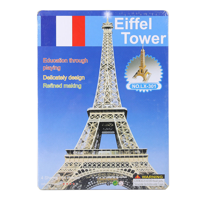 3D Paper KT jigsaw puzzles for children adults Games for kids toys for children Baby toys educational Puzles Eiffel Tower 34 pcs(China (Mainland))