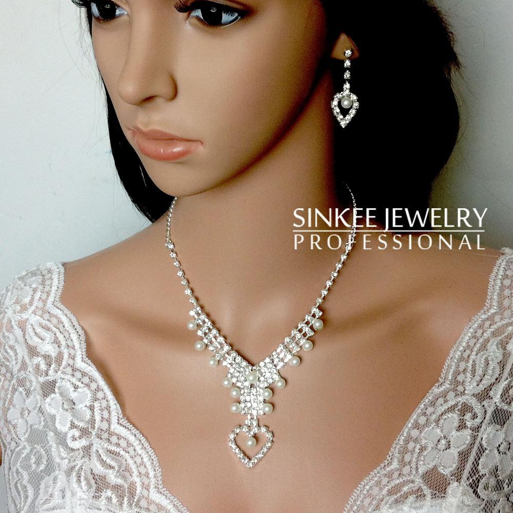 Sinkee 1 PC Free Shipping 4pcs/set bridal necklace earrings ring bracelet bridal jewelry sets for women wedding dress TZ074(China (Mainland))