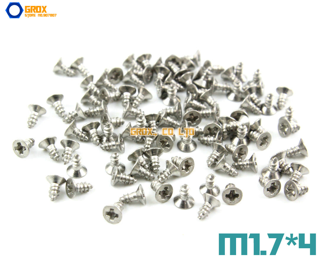 600 Pieces M1.7*4mm 304 Stainless Steel Phillips Countersunk Head Self Tapping Screw<br><br>Aliexpress