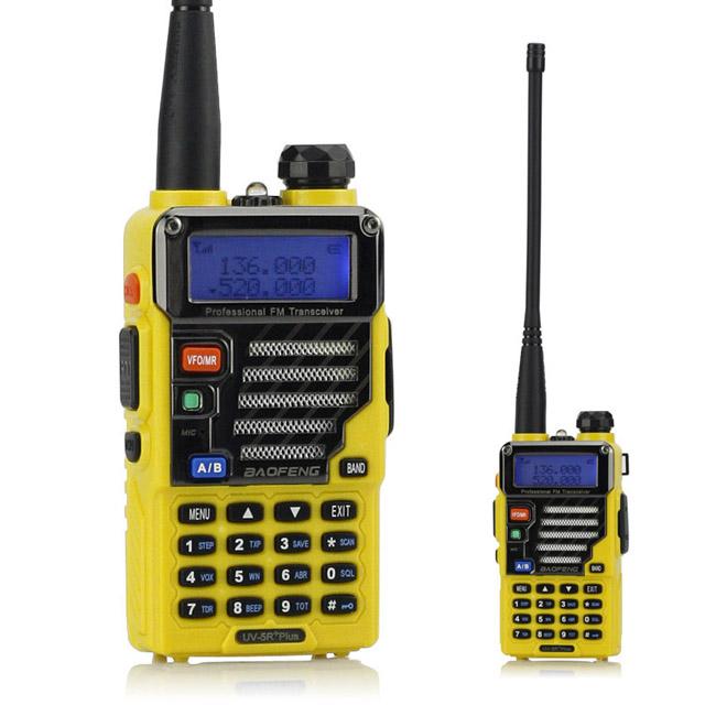 Baofeng UV-5R Plus Walkie Talkie V/U Dual Band Two Way Portable Ham Radio FM VOX Dual Display 5W 128CH UV-5R Qualette(China (Mainland))