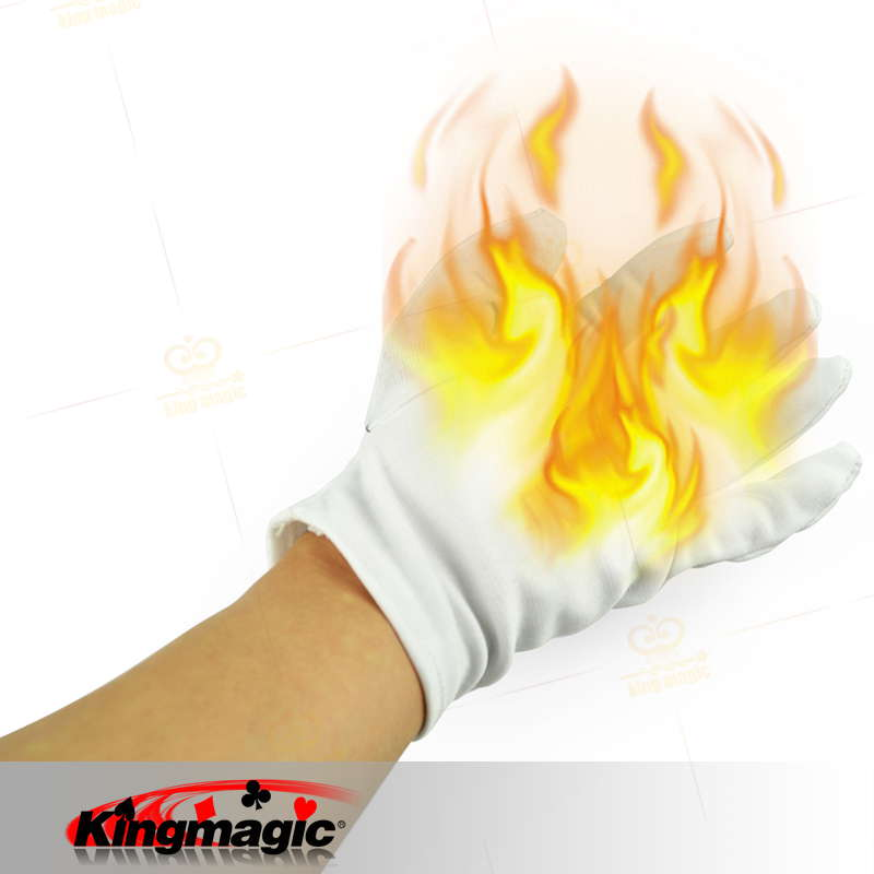 Free Shipping Fire Magic Tricks Stage Magic Prop Magic Fire Gloves for Magicians(China (Mainland))