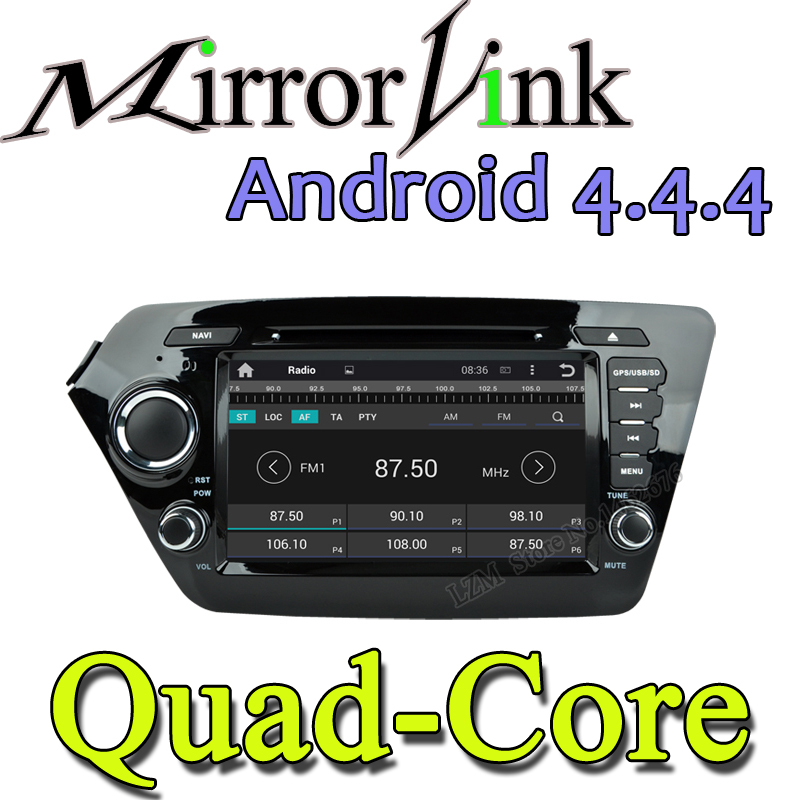 Android 4.4 Multi-touch Screen HD Detachable Two Din Car PC Bluetooth 3G Wifi GPS Car DVD player for KIA k2 RIO 2010 2011 2012(China (Mainland))