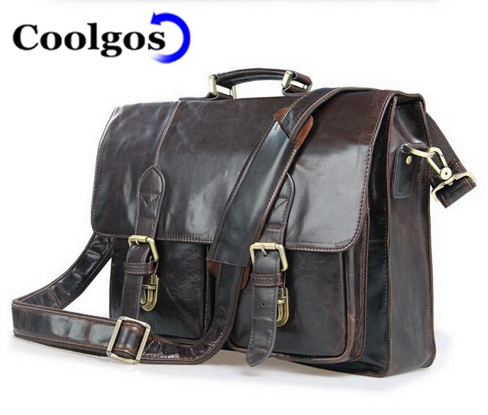 2016 Genuine Leather Men Bag Men'S Briefcase Men Messenger Bags Business Laptop Briefcase Leather Men'S Travel Bags(China (Mainland))