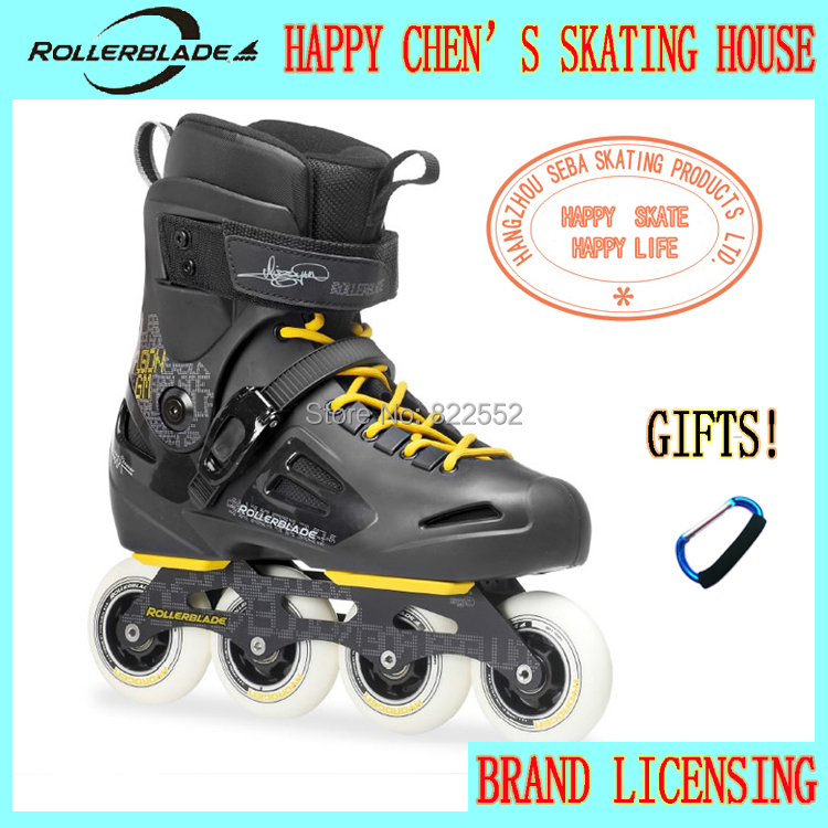 2014 Rollerblade Fusion 84 GM Adult Professional Inline Skates Roller Skating Shoes Good Quality Slalom/Braking/FSK Hockey Patin(China (Mainland))