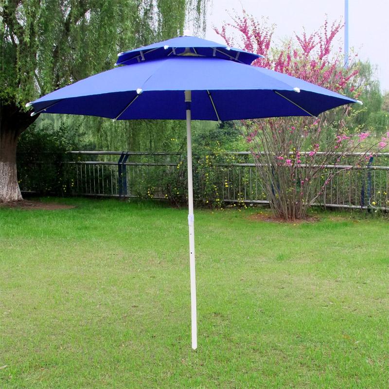double top sun shade umbrella folding outdoor patio beach advertising made booth in patio. Black Bedroom Furniture Sets. Home Design Ideas