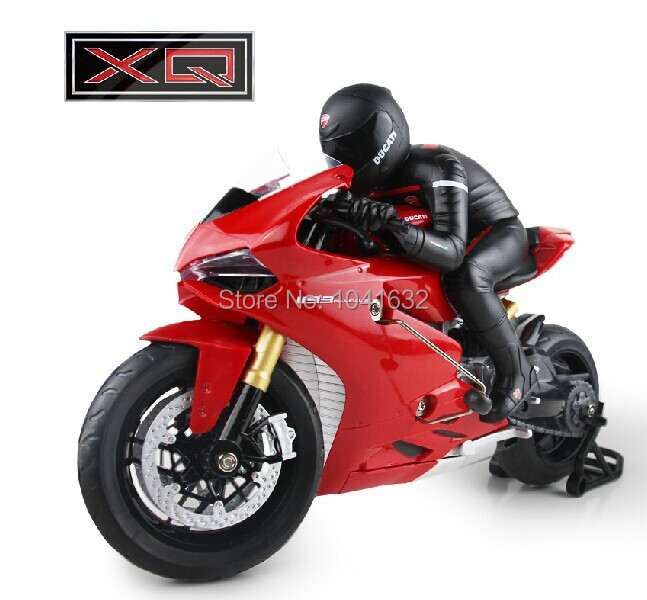 New Arrival XQ 1:6 Remote Control Motorcycle RC Motorbike RC Toys Boys Gift Ducati 1199 Panigale W/ Global License Free Shipping(China (Mainland))