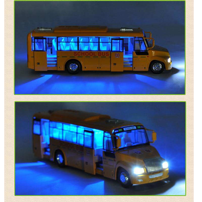 Children's Gifts Pull Back School Bus Alloy car models(China (Mainland))