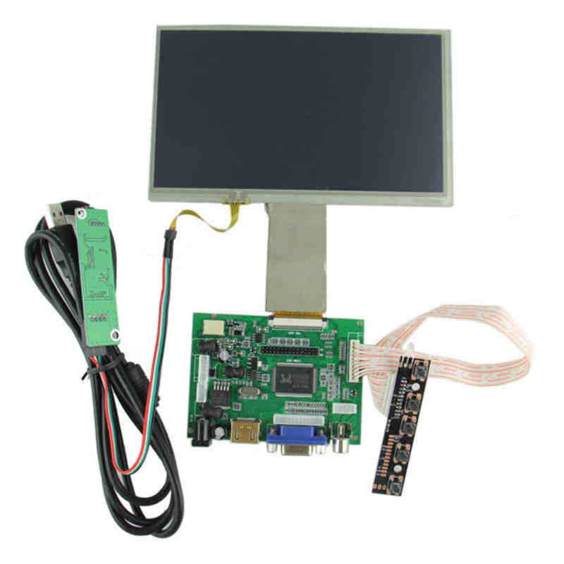 High Quality Hot Sales 7 Inch LCD Touch Screen Driver Board Kit For Raspberry Pi(China (Mainland))
