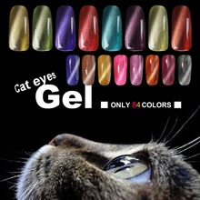 Candy Lover 3D Cat Eyes UV Gel Polish 8ml Soak Off LED UV Gel Nail Polish Magnetic Gel Lacquer Long-Lasting 84 Colors For Choose(China (Mainland))